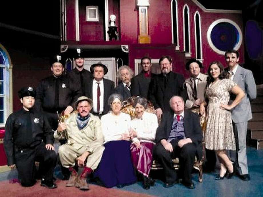 "The cast for Stage Right of Texas' ""Arsenic and Old Lace"" which opens Friday at the Crighton Theatre in downtown Conroe."