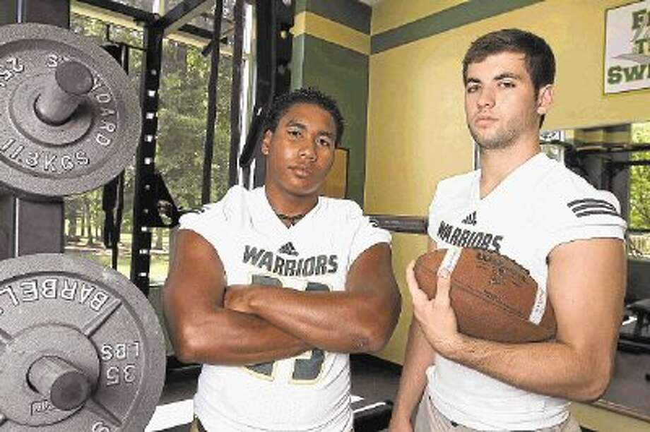 Seniors Tristian Suayan, left, and Michael Sacks will lead The Woodlands Christian this season. Sacks missed his entire junior season with a torn labrum. / @WireImgId=2639422