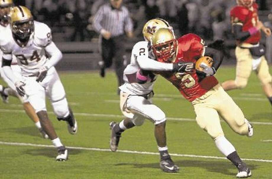 Caney Creek running back Chris Coffer was the District 18-4A Co-Newcomer of the Year as a sophomore in 2012. / @WireImgId=2639391