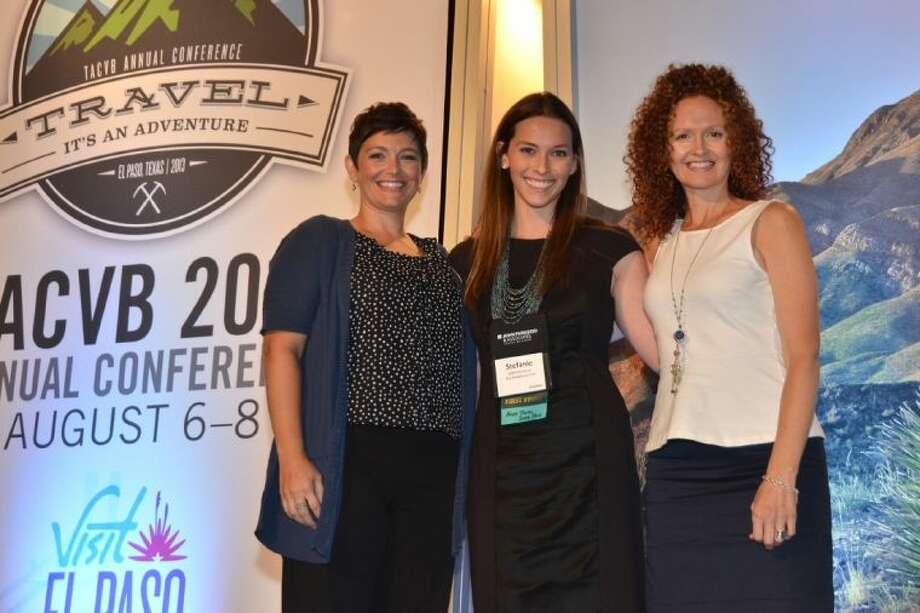 The Woodlands CVB is selected as the host of the 2015 Annual Conference for the Texas Association of Convention & Visitors Bureaus, an association of more than 400 Texas travel professionals. Pictured left to right, Erin Scinta, Senior Sales Manager with The Woodlands Waterway Marriott and Conference Center; Stefanie Falknor, Group Sales Specialist with The Woodlands Convention & Visitors Bureau; and Kim Lowe, National Sales Manager with The Woodlands Resort & Conference Center.