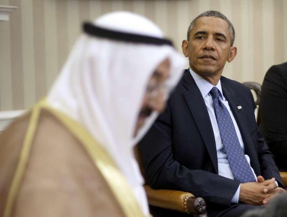 President barack obama meets with the kuwait amir sheik sabah al ahmed