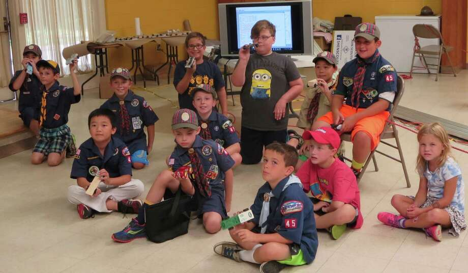 Shenendehowa area Cub Scouts and family at the Pinewood Derby experiment (Photo submitted)