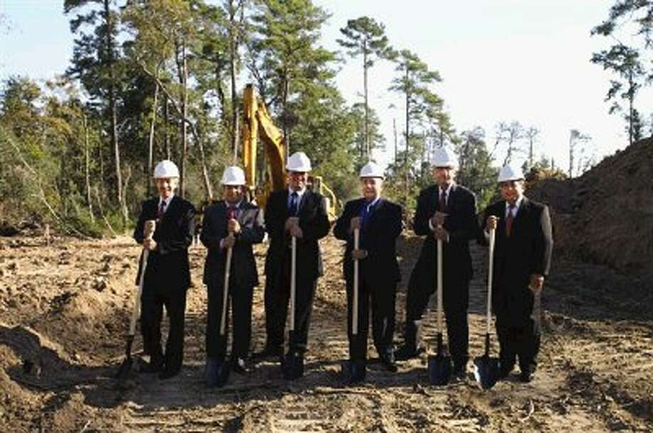 Attending Groundbreaking Ceremonies For Groganu0027s Crest Were Richard  Foulkes, Vincente Suarez, Alejandro Ampudia,