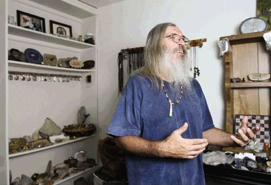 Thomas Chatman runs The Old Wizzard's Rock Shop in Willis. Chapman has found several Indian artifacts around Montgomery County. Photo: Staff Photo By Jason Fochtman / Conroe Courier