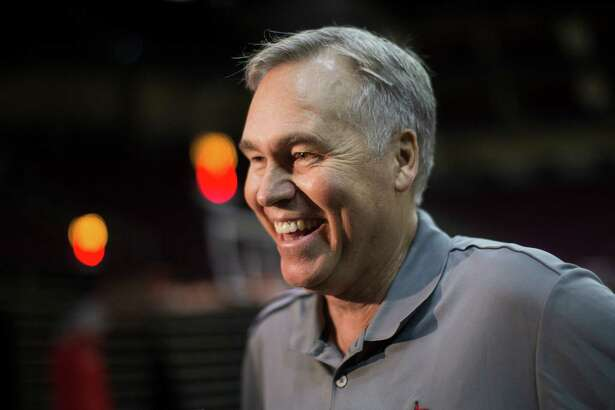 Houston Rockets head coach Mike D'Antoni talks to the press during the team's first day of practice, Saturday, Sept. 24, 2016, in Houston.