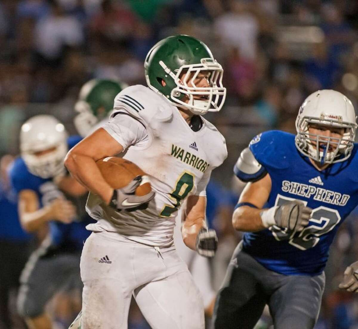Luke Hudson ran for 174 yards and three touchdowns last week against Rosehill Christian. The Warriors totaled 312 yards on the ground as a team in the 36-0 victory.