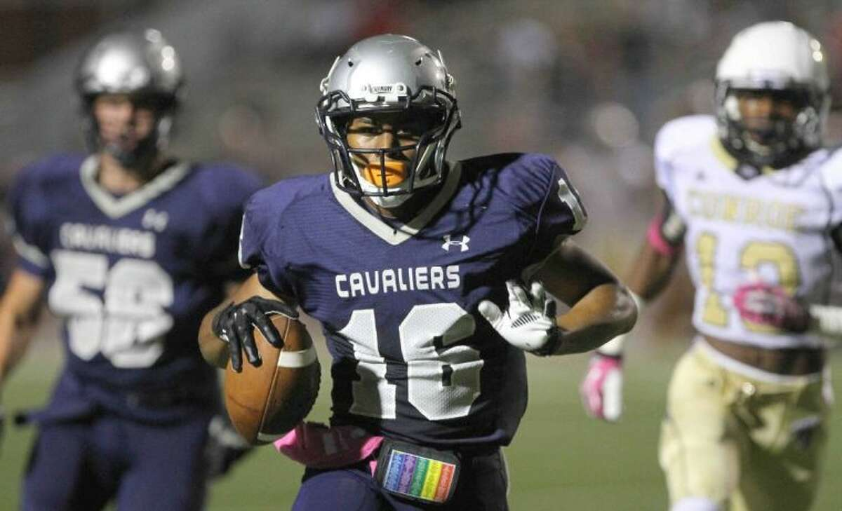 Running back Nicholas Black and the College Park Cavaliers visit A&M Consolidated on Friday night.
