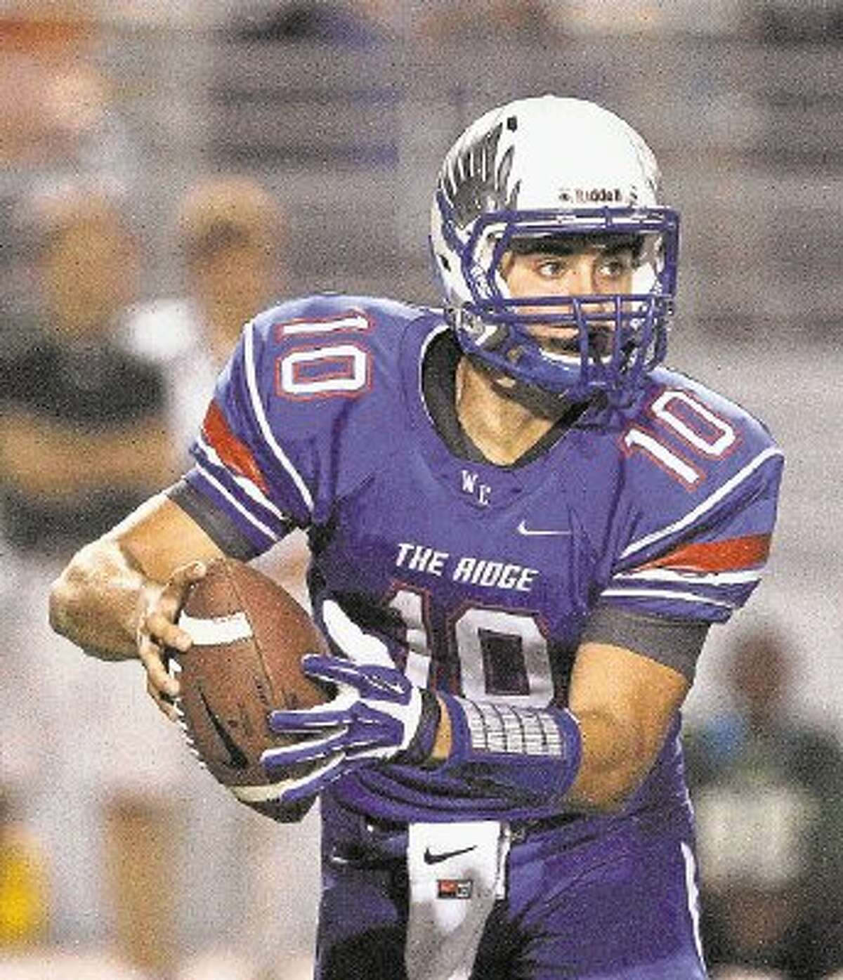 Oak Ridge quarterback Braden Letney wonThe Courier's Montgomery County Player of the Week award for Week 7.The sophomore ran for 151 yards and two touchdowns (58 and 69 yards) on six carries and completed 5 of 6 passes for 130 yards and two touchdowns (58 and 25 yards) in a 41-18 victory at Conroe.