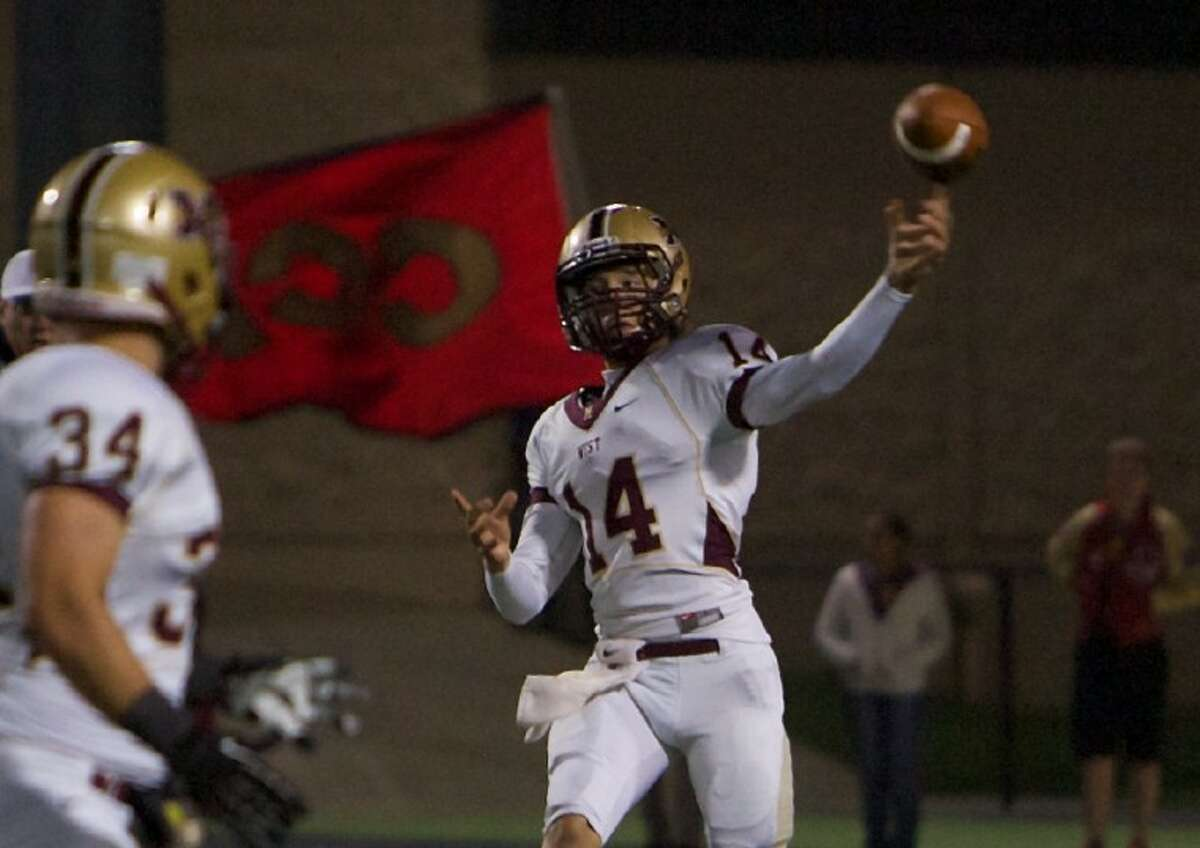 Troy Logan and Magnolia West take on District 17-4A champion Georgetown on at Cub Stadium in Brenham.