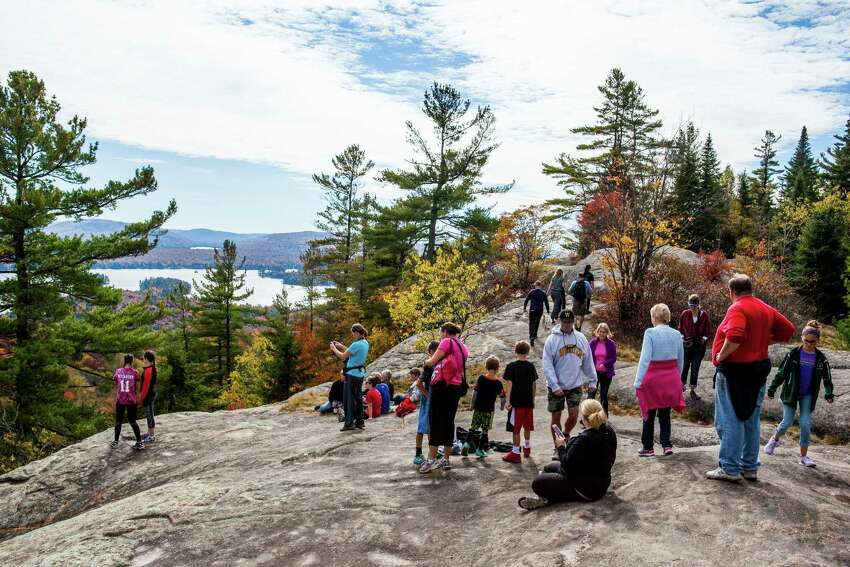 View from Bald Mountain hike trail on Oct. 11, 2015, near Old Forge, N.Y. (Nancie Battaglia/Special to the Times Union)