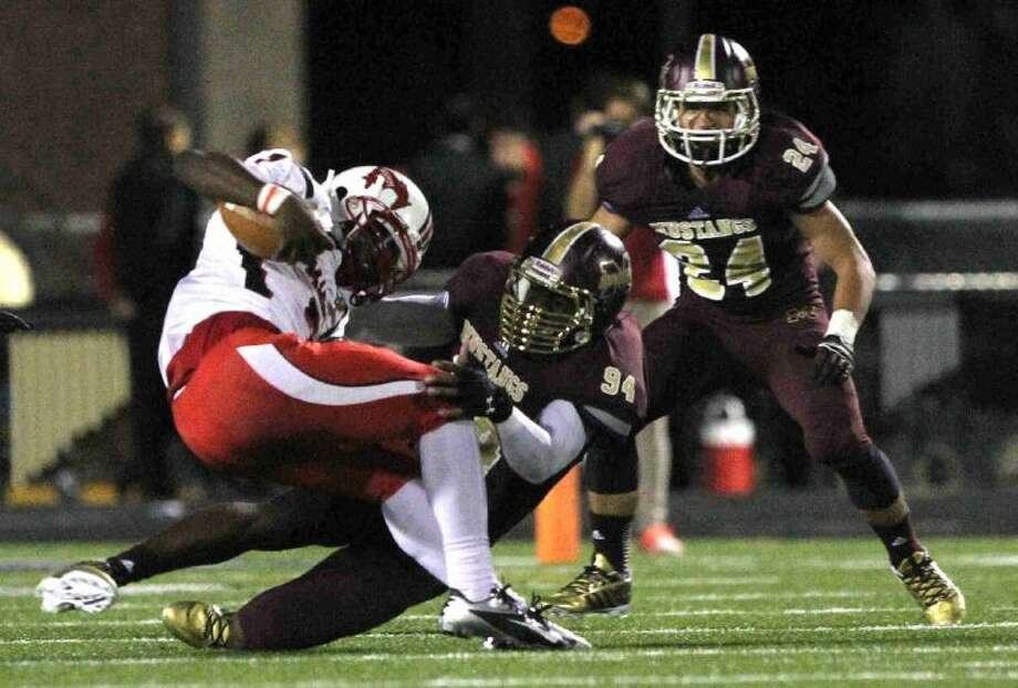 Magnolia West defensive end Xavier Jones had eight sacks and 16 tackles for losses this season. Photo: Staff Photo By Jason Fochtman
