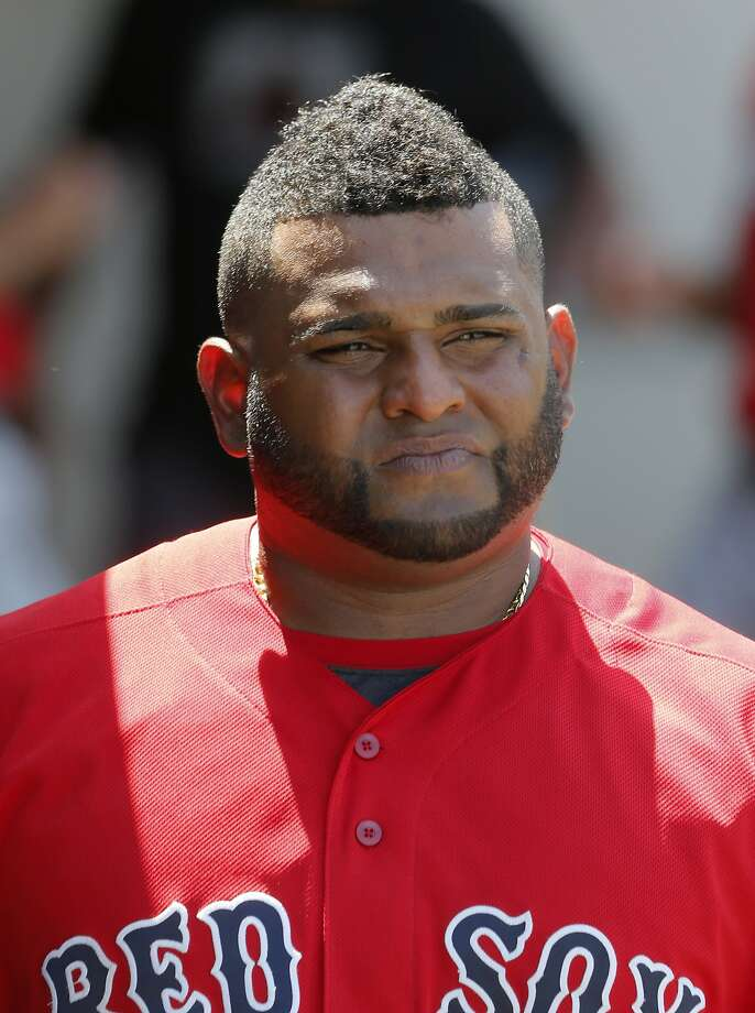 Boston Red Sox's Pablo Sandoval walks through the dugout in the fifth inning of a spring training baseball game against the Minnesota Twins on Thursday, March 31, 2016, in Fort Myers, Fla. (AP Photo/Tony Gutierrez) Photo: Tony Gutierrez, AP