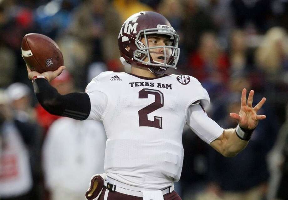 Texas A&M's Johnny Manziel has been named the AP's College Football Player of the Year. Photo: Rogelio V. Solis