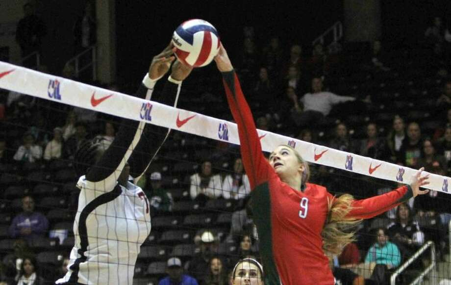 The Woodlands' Courtney Eckenrode, here playing in the Class 5A state championship match, was named the MVP of District 14-5A. Photo: Staff Photo By Jason Fochtman
