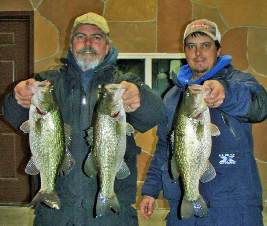 Bo and Jason Harrell won the Conroe Bass Tuesday Night Tournament on Dec. 11 with a stringer weighing 10.28 pounds.