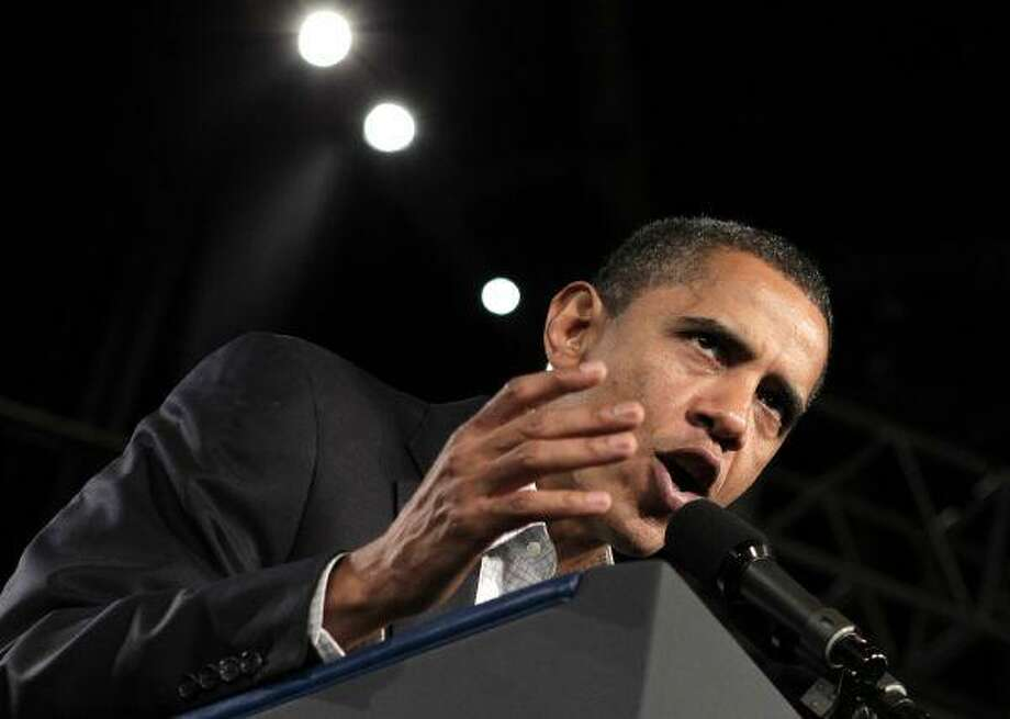 In this Oct. 16 photo, President Obama speaks in Boston. According to Obama, Americans are angry, frustrated, scared, anxious, uncertain, nervous, discouraged and shaken up. They're also confused and not thinking clearly, he said. / AP