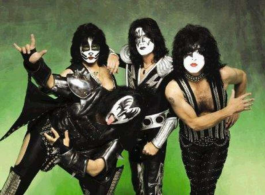 The band KISS performs at the Cynthia Woods Mitchell Pavilion on Friday night. / @WireImgId=1592600