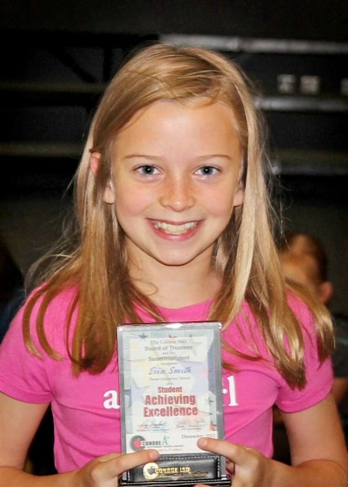 Erin Smith was recently recognized as the Student Ambassador for Powell Elementary.