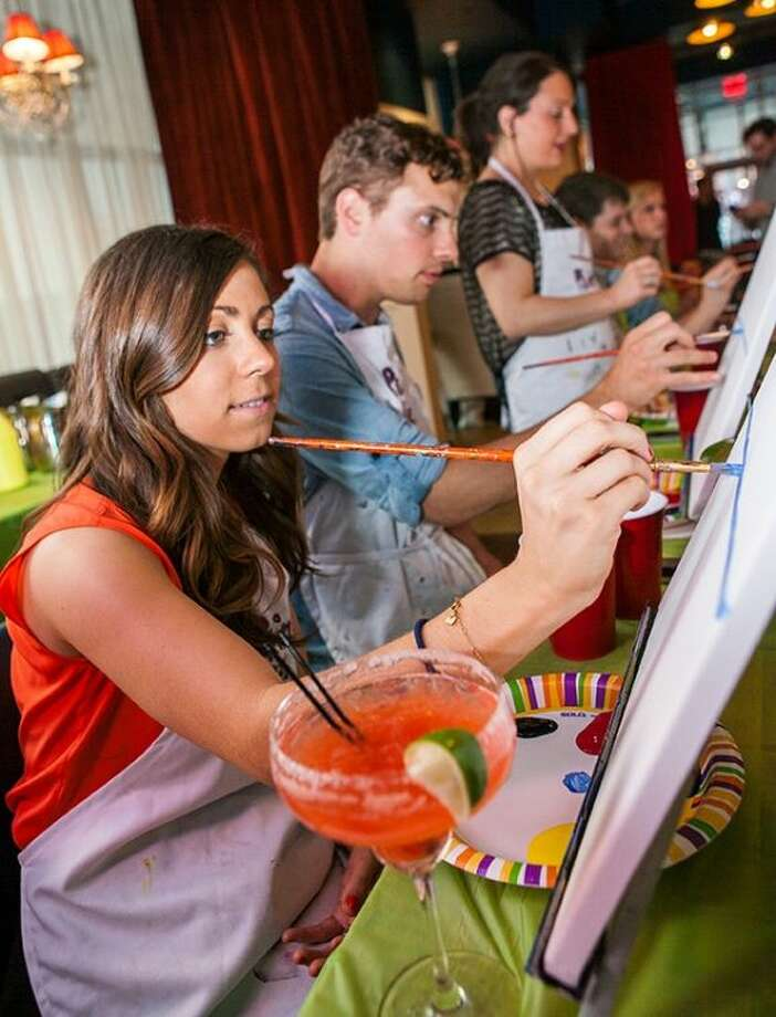 With Paint Nite, groups of individuals gather in public spots such as restaurants or pubs and learn to reproduce a painting with the help of a professional, local artist. There's food, drinks and lots of fun.