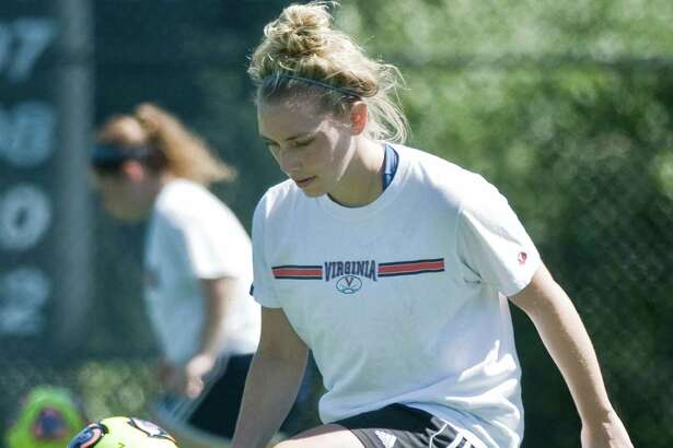 FILE PHOTO: Autumn Sorice works with the ball during a Western Connecticut State University women's soccer practice. Tuesday, Aug. 23, 2016