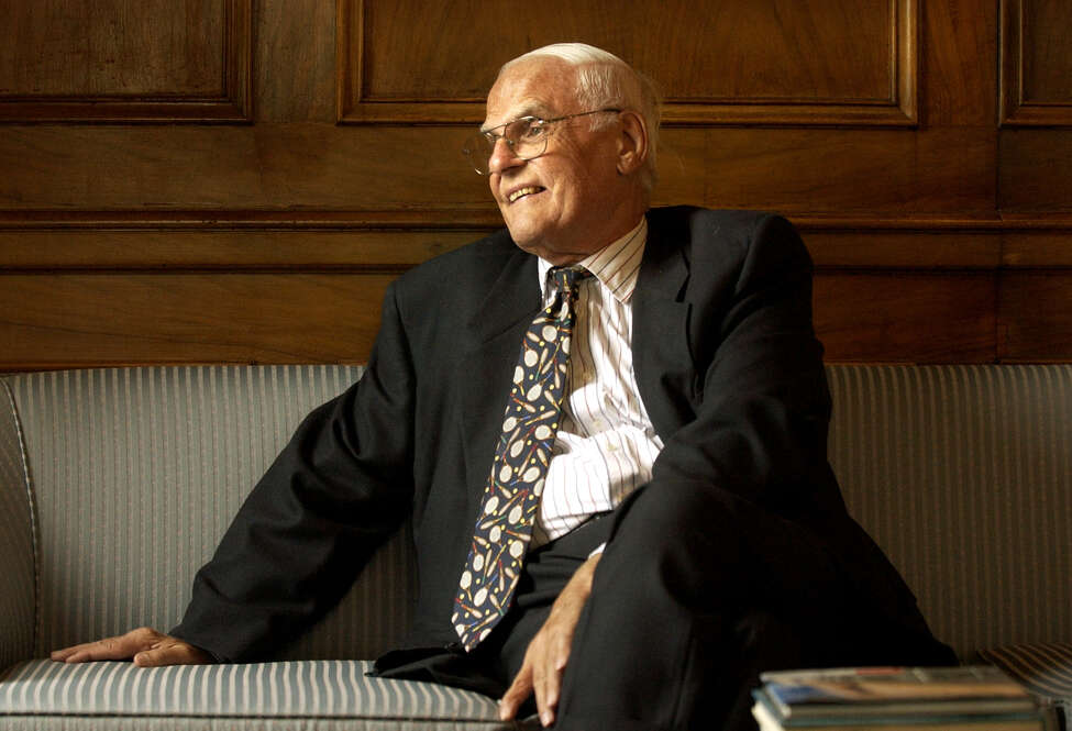 J. Spencer Standish, pictured in 2003, was chairman emeritus of the board of directors of Albany International and a Loudonville resident. He died at age 91 on Sept. 23, 2016. As a philanthropist, one of his many contributions to Capital Region entities was a $4.6 million gift to to the Community Foundation for the Capital Region, which in 2003 was the the largest gift in the foundation's history at that time. (Will Waldroin/Times Union)