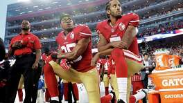 Some have started following Colin Kaepernick's stance of kneeling during the national anthem.