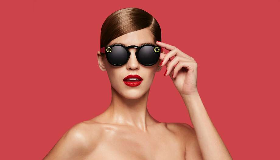 This undated image courtesy of Snap Inc. shows the company's Spectacles video-catching sunglasses.  Photo: HO, AFP/Getty Images