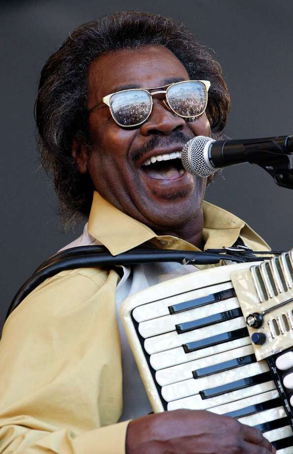 """FILE - In this May 6, 2011 file photo, Buckwheat Zydeco performs at the'New Orleans Jazz and Heritage Festival in New Orleans.  Stanley """"Buckwheat"""" Dural Jr., who introduced zydeco music to the world through his namesake band Buckwheat Zydeco, has died. He was 68. His longtime manager Ted Fox told The Associated Press that Dural died early Saturday, Sept. 24, 2016. He had suffered from lung cancer. Photo: Patrick Semansky / AP2011"""