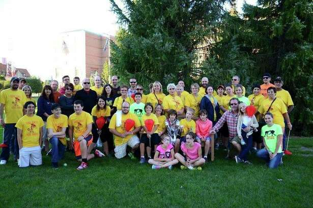 A Light the Night Walk team poses for a photo.