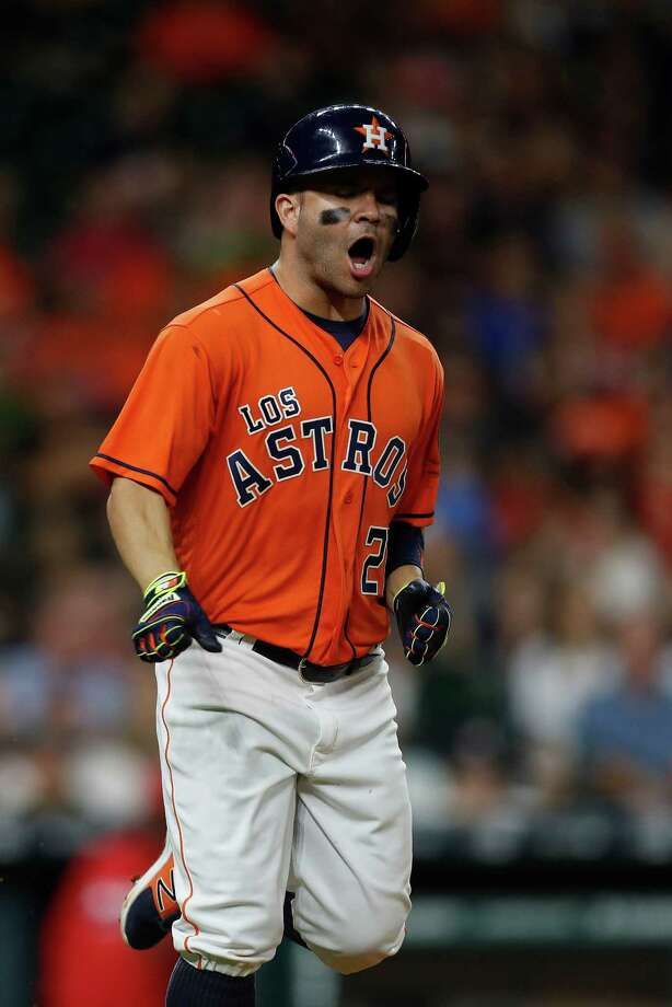 Jose Altuve's second American League batting title is all sewn up, a contrast to what the Astros star went through two years ago. Photo: Karen Warren, Houston Chronicle / 2016 Houston Chronicle
