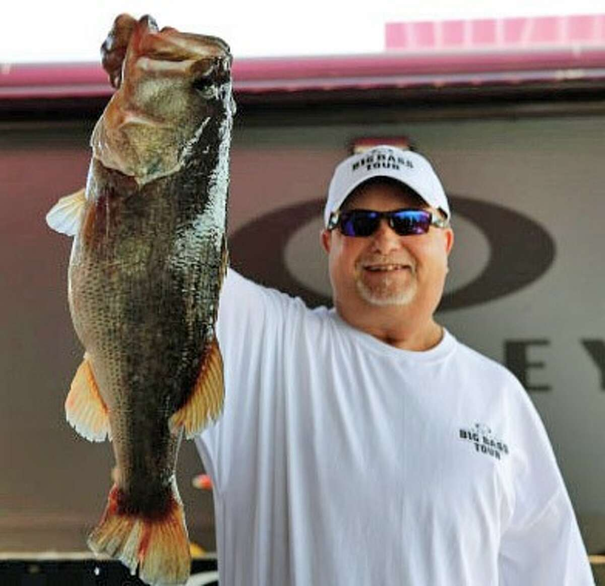 Michael Klevenski reeled in the biggest fish of the Oakley Big Bass Tournament with a catch of 10.41 pounds.