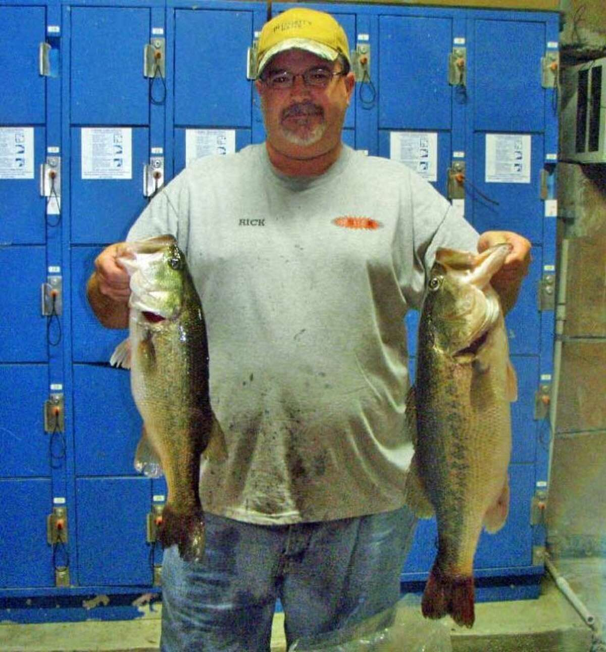 Charles Bebber and Rick Johnson finished third in the Conroe Bass Tuesday Night Tournament with a stringer weight of 13.44 pounds.
