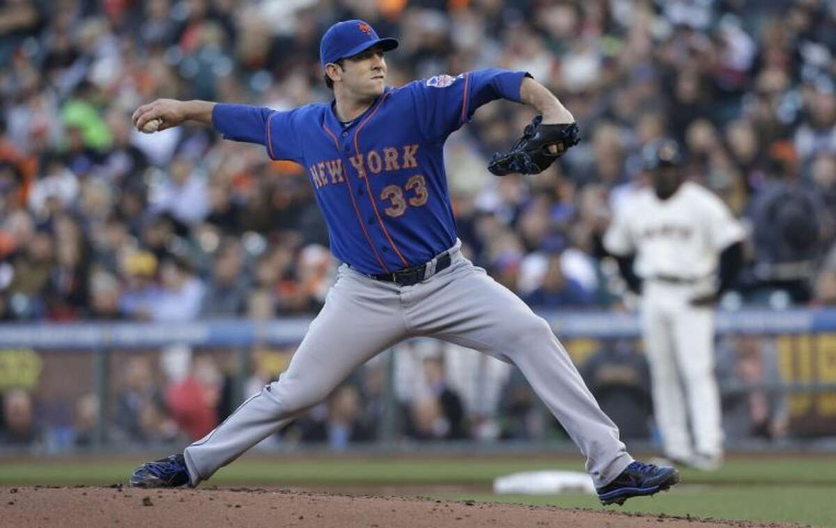 New York Mets pitcher Matt Harvey leads the National League in strikeouts with 147.