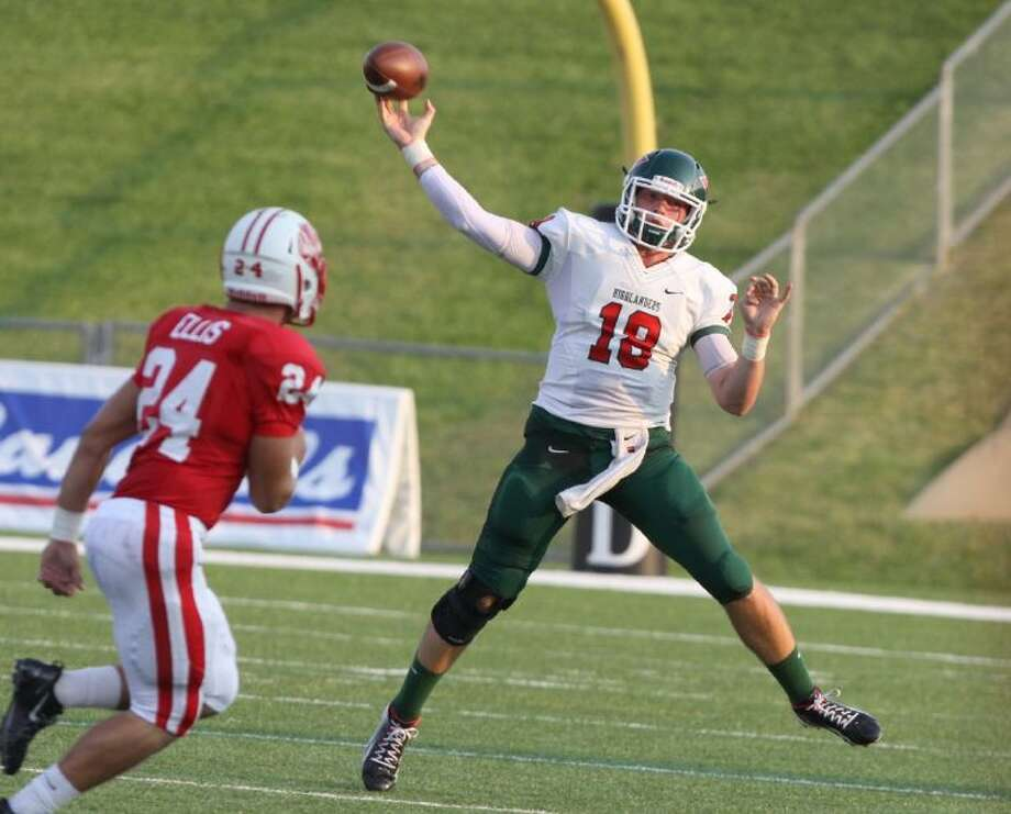 The Woodlands quarterback Chris Andritsos will miss six to eight weeks after tearing the meniscus in his right knee against Katy last week. Photo: Photo By Alan Warren