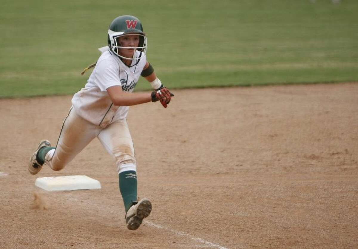 The Woodlands sophomore Aubrey Leach hit .523 with six doubles and three triples this season. She had an on-base percentage of .626 and also stole 42 bases in 44 attempts and scored 56 runs.