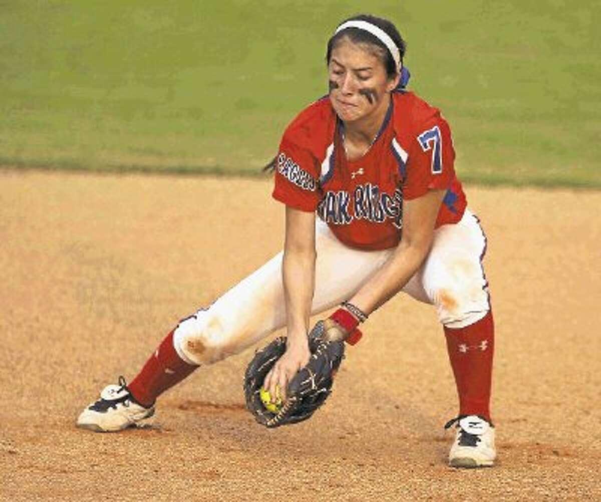 Oak Ridge sophomore shortstop Amber Serrett made only two errors this season.