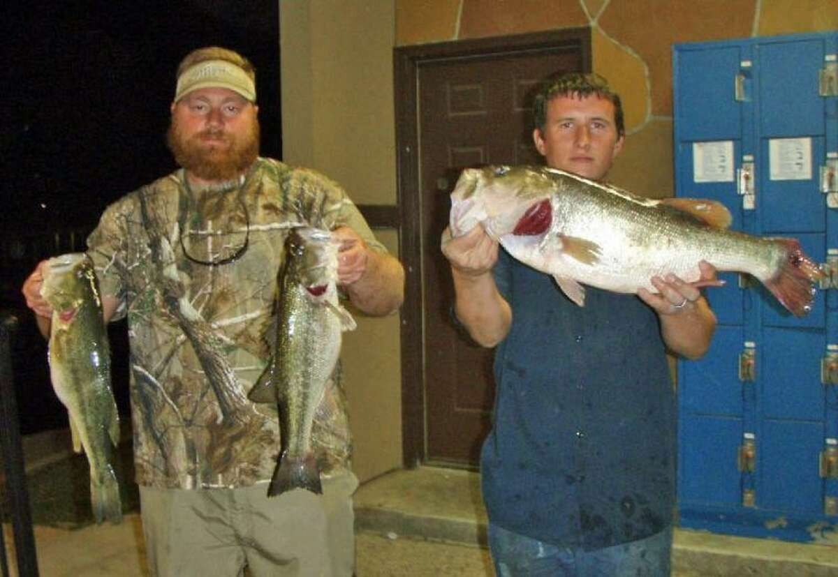 Justin Buller and Danny Isbell finished second in the Conroe Bass Tuesday Night Tournament with a stringer weight of 12.97 pounds.