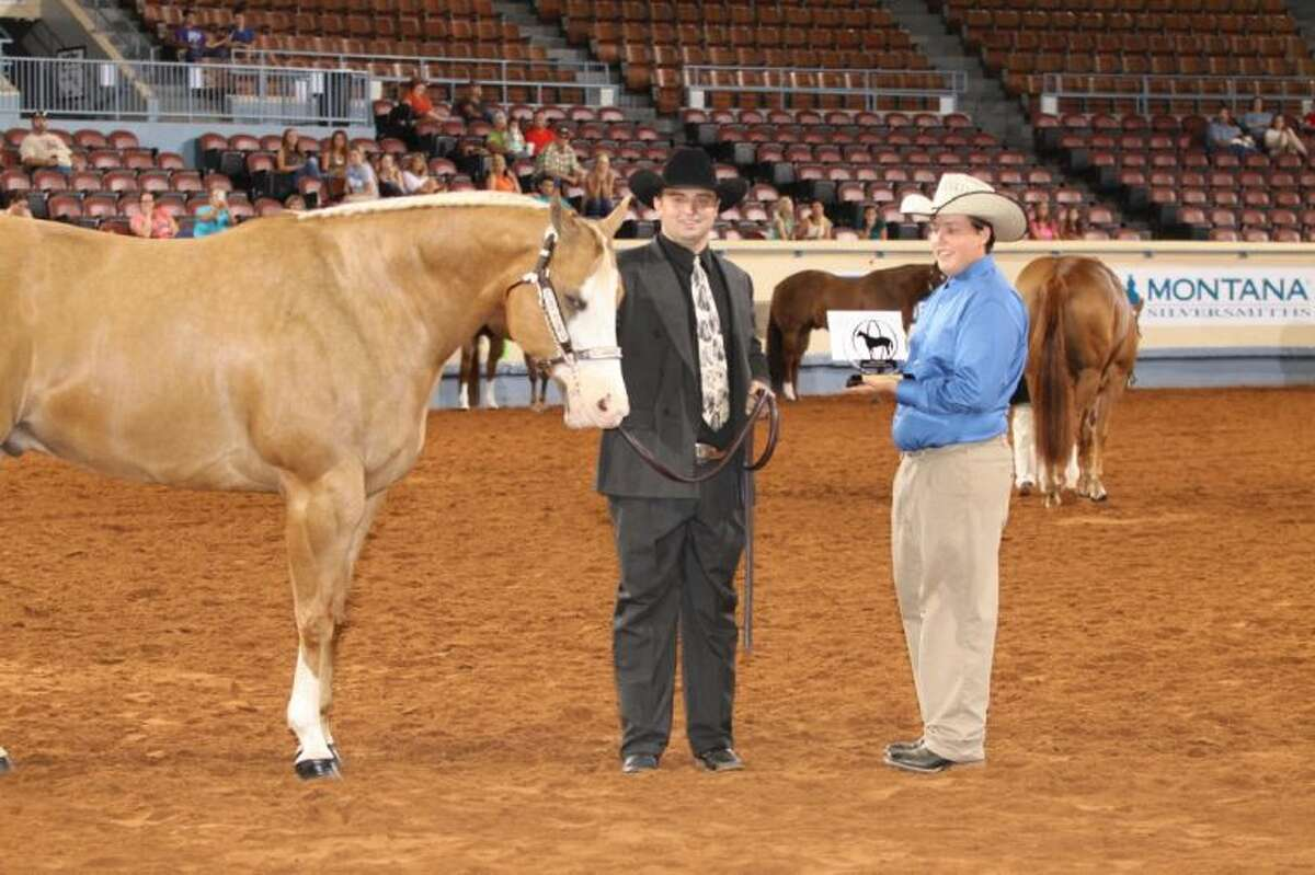 Hunter Lynn Griffin, of Conroe, won the Intermediate First Place in aged geldings at the 2013 Built Ford Tough American Quarter Horse Youth Association World Championship Show in Oklahoma City, OK.