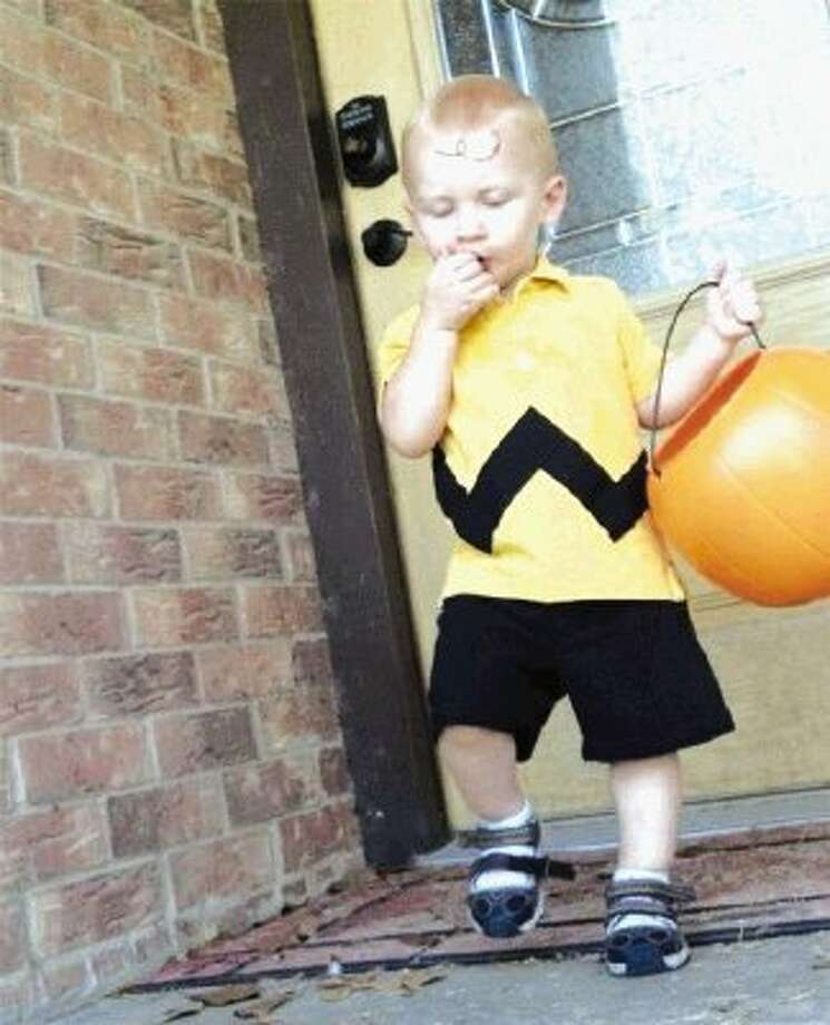 Marshall Ward, 20 months old, was tragically killed in an auto accident at his home in Tarkington around 5 p.m. Wednesday. He was the son of Jason and Leah Ward, who are Tarkington volunteer firefighters. This photo was one that was submitted to the Cleveland Advocate's Halloween costume contest last year.