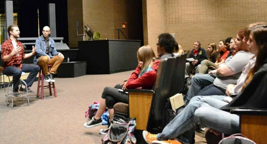 About 50 Conroe High drama students attended a three-day workshop with two New York City performers who answered questions about the business.