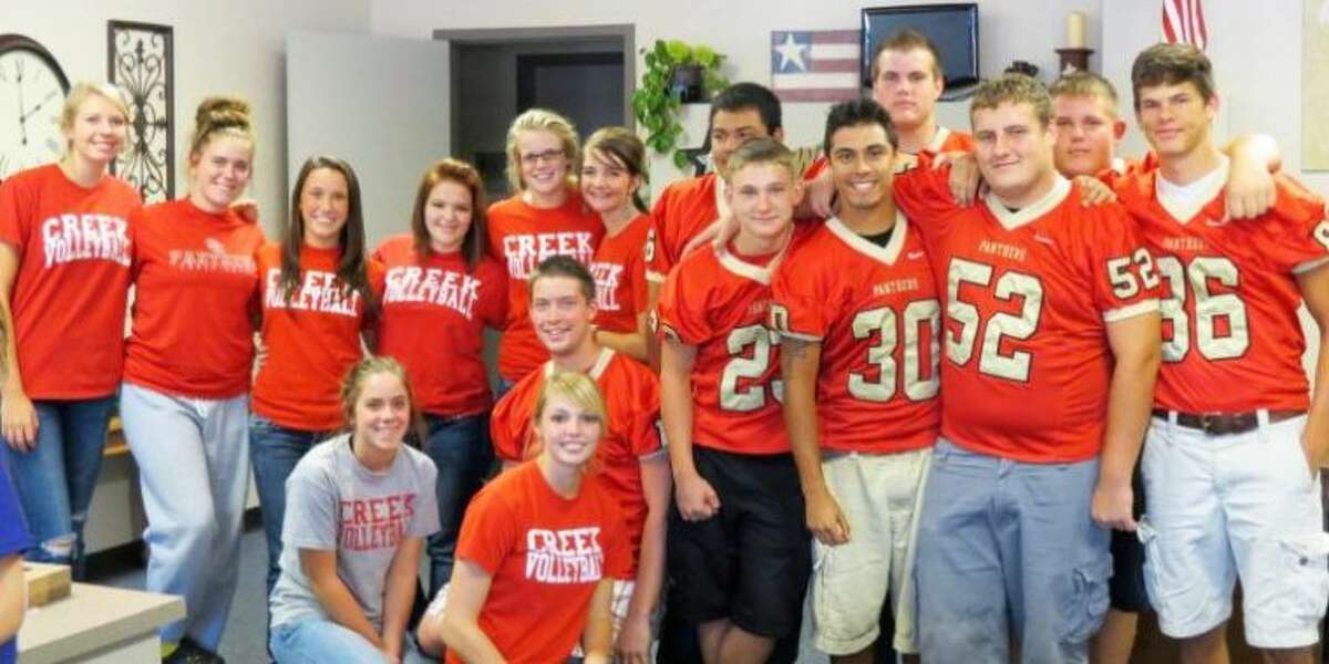 Caney Creek High School students visited Creighton Elementary to read to a class.
