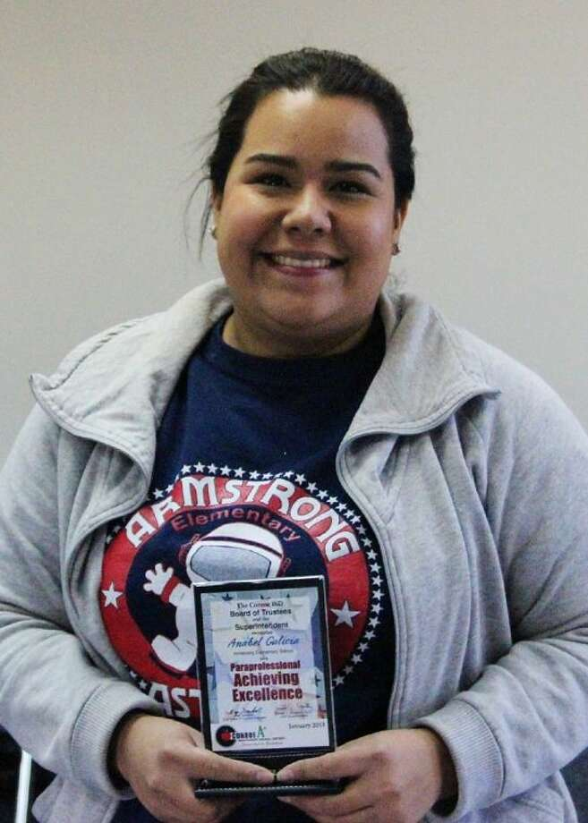 Conroe ISD recently recognized Anabel Galicia as Armstrong Elementary's Paraprofessional Am- bassador.