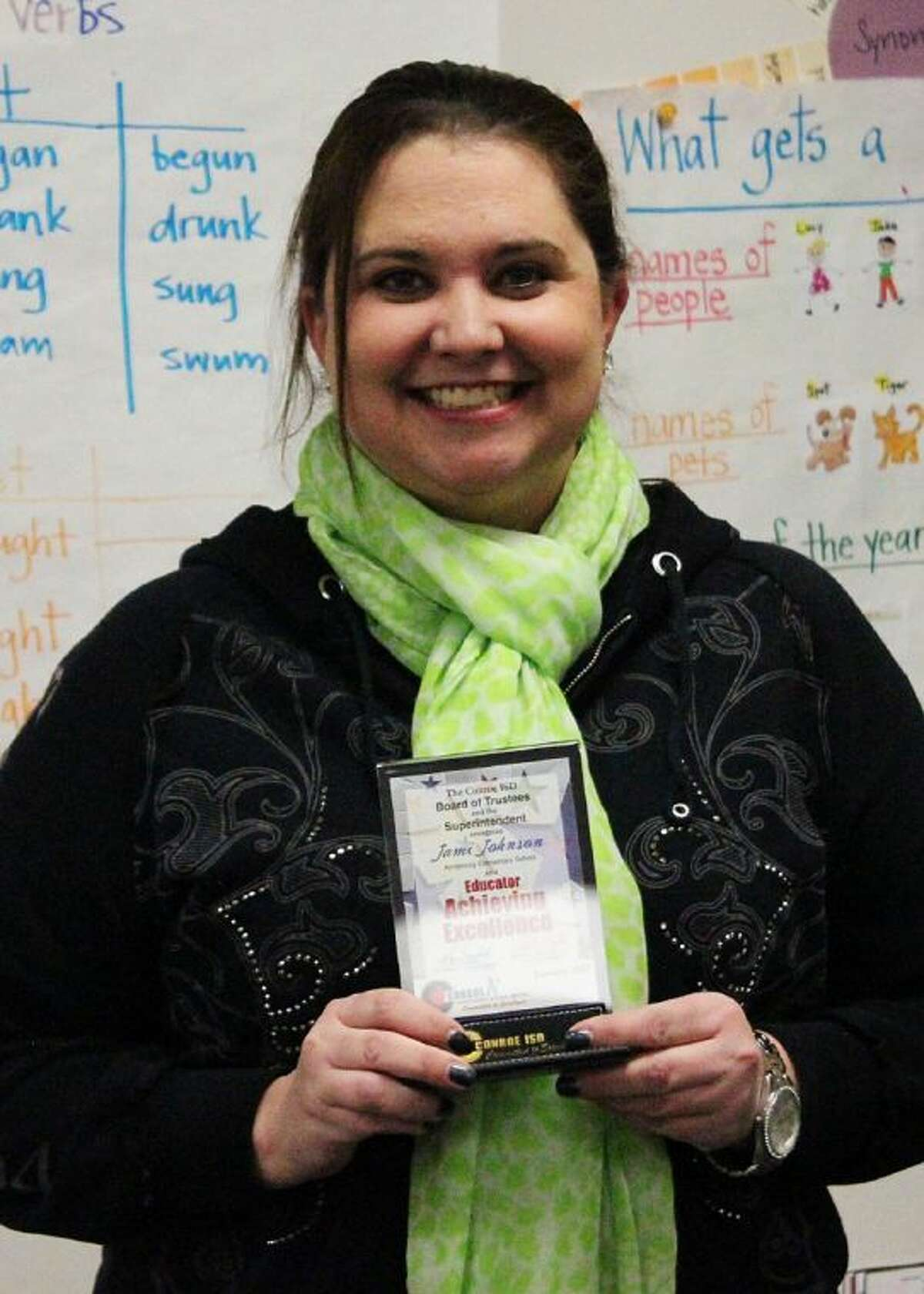 Conroe ISD recently recognized Jami Johnson as Armstrong Elementary's Educator Ambassa- dor.