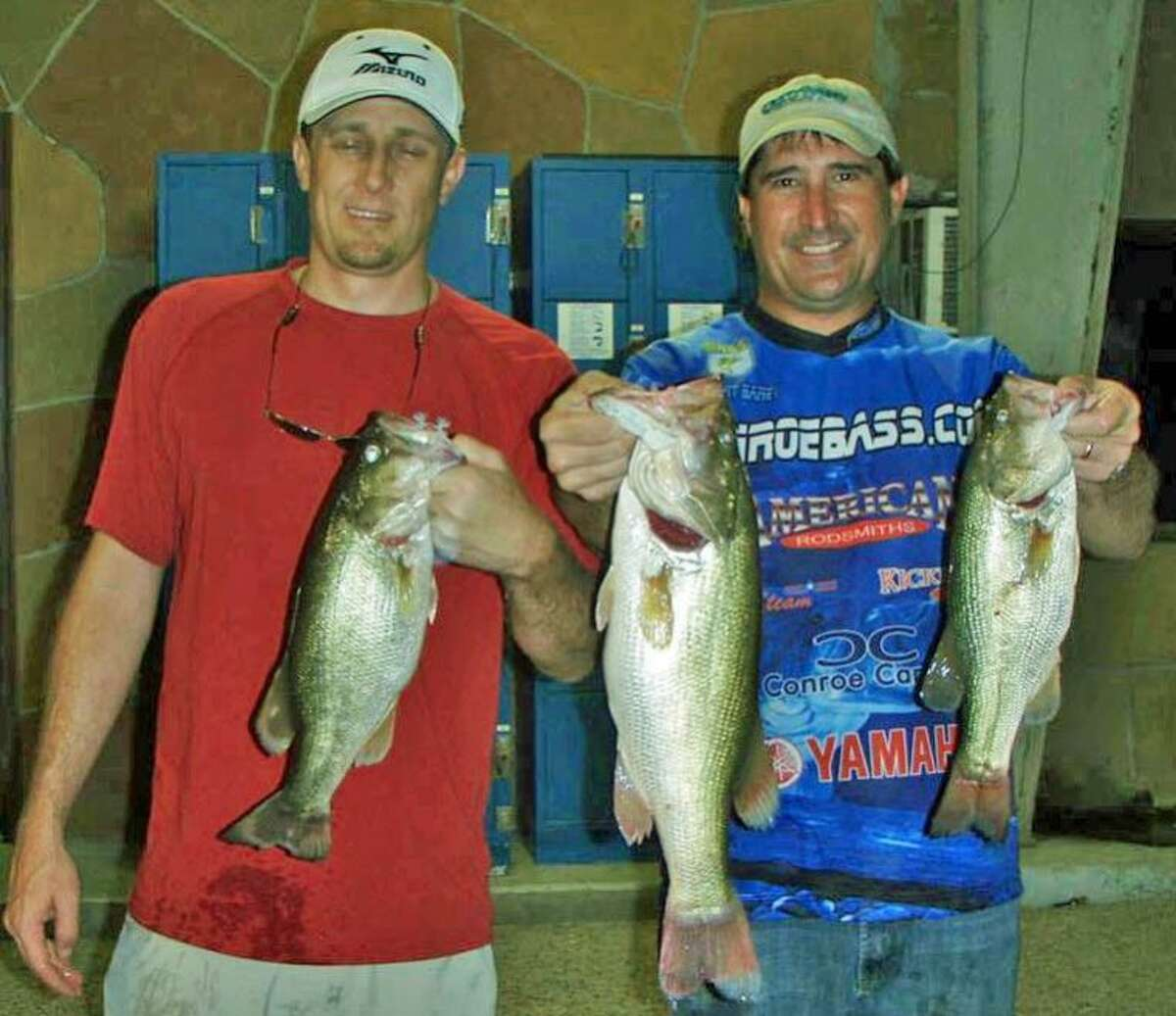 Robert Baney and Tyler Martin finished second in the Conroe Bass Midnight Madness Tournament with a stringer weight of 9.78 pounds.