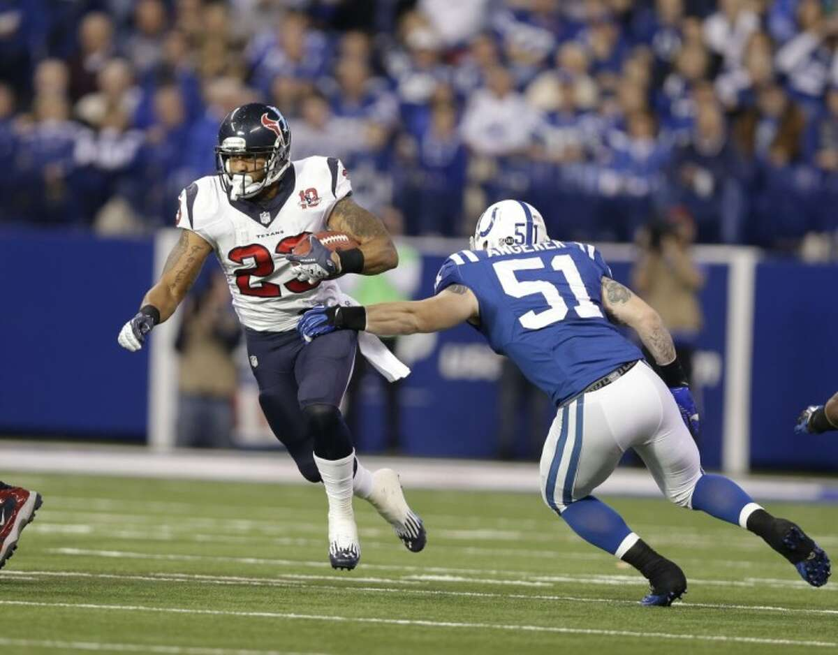 Texans running back Arian Foster will be a key to the team's hopes in the AFC wild-card game against the Cincinnati Bengals.
