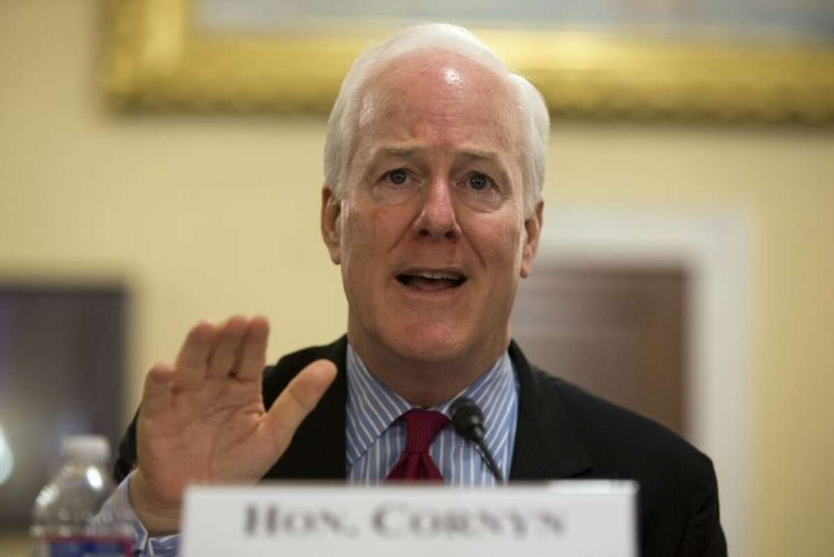 """In this July 23 photo, Sen. John Cornyn, R-Texas, testifies on Capitol Hill in Washington, before the House Homeland Security subcommittee on Border and Maritime Security hearing on """"A Study in Contrasts: House and Senate Approaches to Border Security."""""""