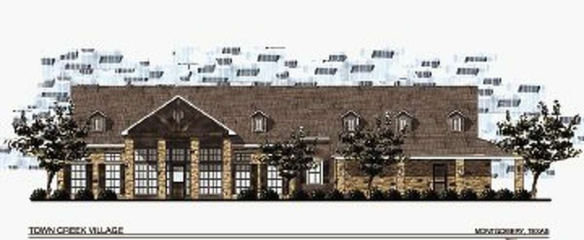 A 3,500-square-foot clubhouse is one of the upscale amenities at the new Town Creek Village apartment complex under construction in Montgomery.