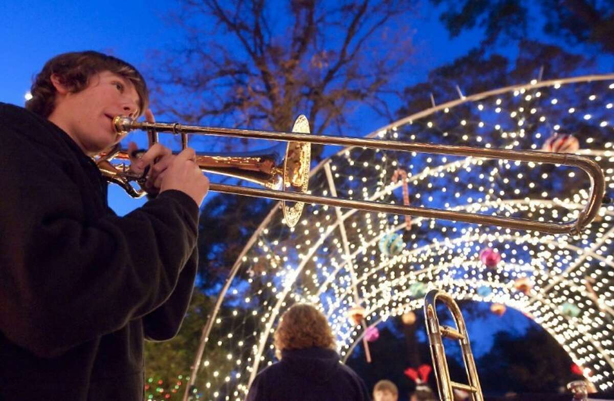 """Riley Giampaolo, 17, senior at Oak Ridge High School and a member of Houston Youth Symphony, will perform for his fourth time during the annual """"Bad Bob's Christmas Bash on the Lawn"""" set Dec. 21 at the Conroe home of Bob and Barbara Price, 103 South Delmont. Festivities begin at 6 p.m. The prestigious Jazz Connection and dozens of musicians of all ages will perform. The public is invited and attendees should provide their own lawn chairs and blankets to enjoy the free concert. Non-perishable food will be accepted for the county food bank."""