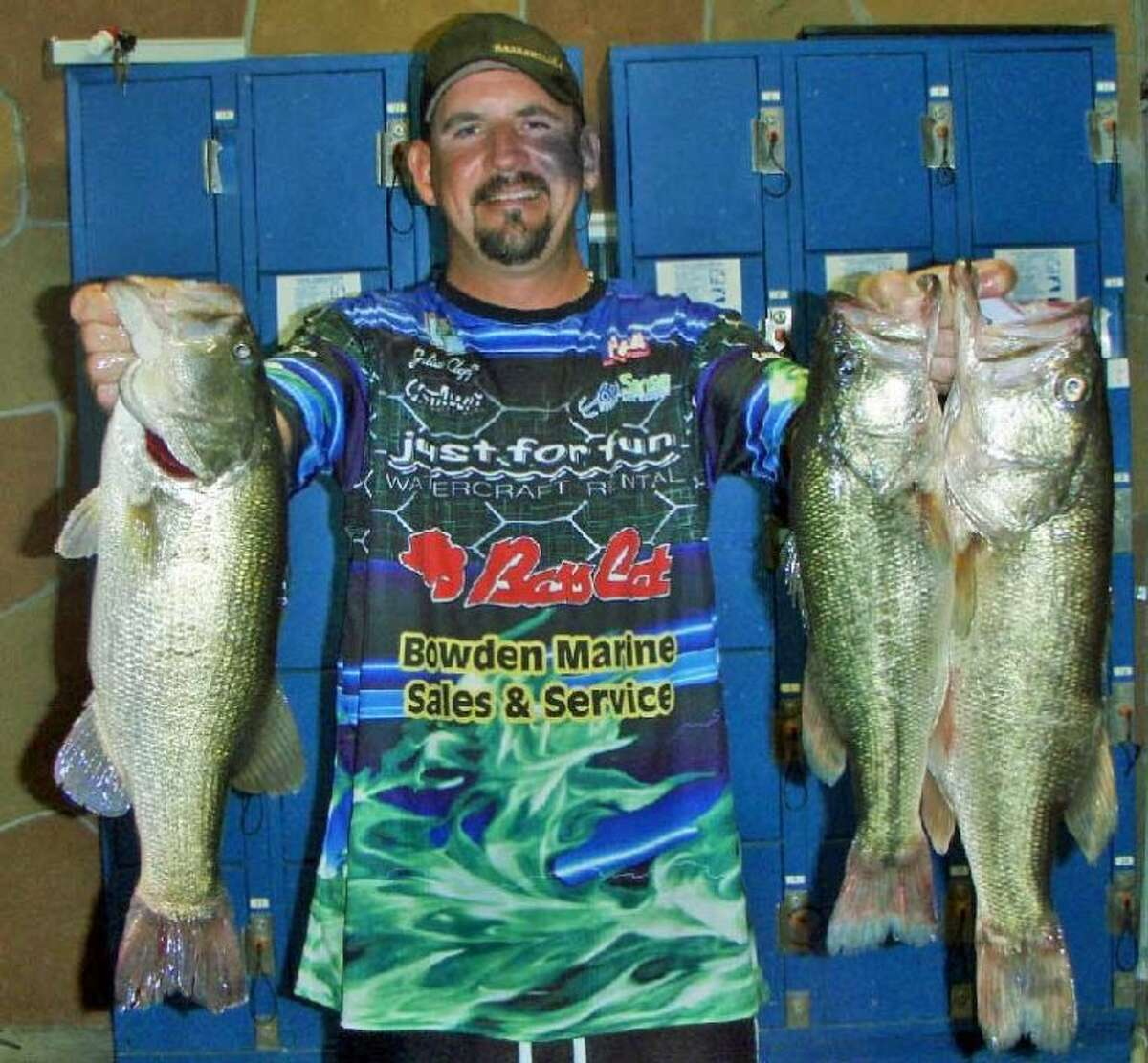 Julian Clepper won the Conroe Bass Midnight Madness Tournament on Aug. 10 with a stringer weight of 14.34 pounds.