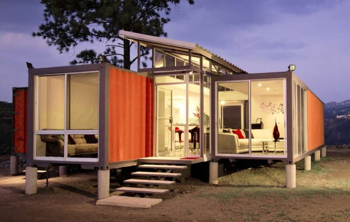 The United State Green Building Council Piney Woods Branch is proposing building a container home, like the one pictured above, at John Burge Park for dual use by the city and the USGBC.